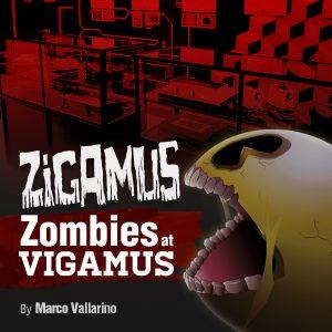 La copertina della avventura testuale Zigamus