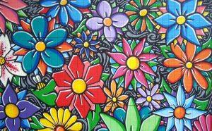 La street art fa sbocciare fiori sui muri