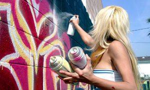 Street artist all'opera