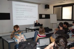 A public meeting about gamification I attended in Milan in 2017