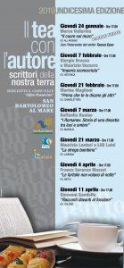 Il programma del Tè con l'autore 2019 di San Bartolomeo al Mare