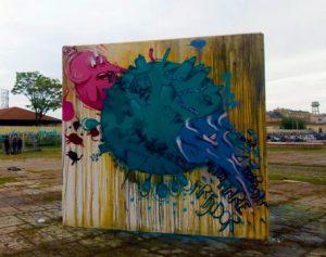 Opera di street art di Fijodor Benzo per Sky Arte