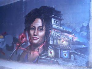 Il murale di Vessalico dedicato a Marielle Franco