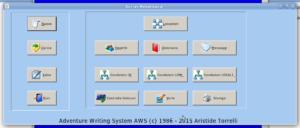 L'interfaccia grafica dell'Adventure Writing System AWS